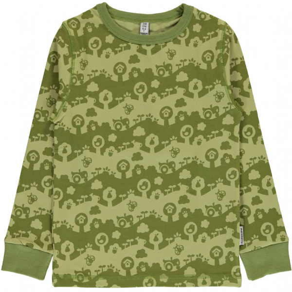 Maxomorra Long Sleeve Top Garden Landscape